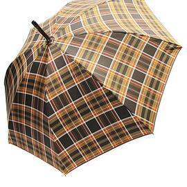 Зонт-трость Doppler VIP механический 23645-4 Клетка, Цвет: Коричневый, фото