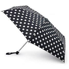 Зонт женский Fulton Miniflat-2 L340 White Spot (Белый горох), фото