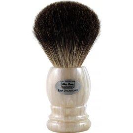 Помазок борсук для гоління Hans Baier 51121 Білий мармур, Колір: Білий, фото