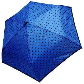 Парасолька складана Derby 722565PD-3 механічна Синя, Колір: Синій, фото