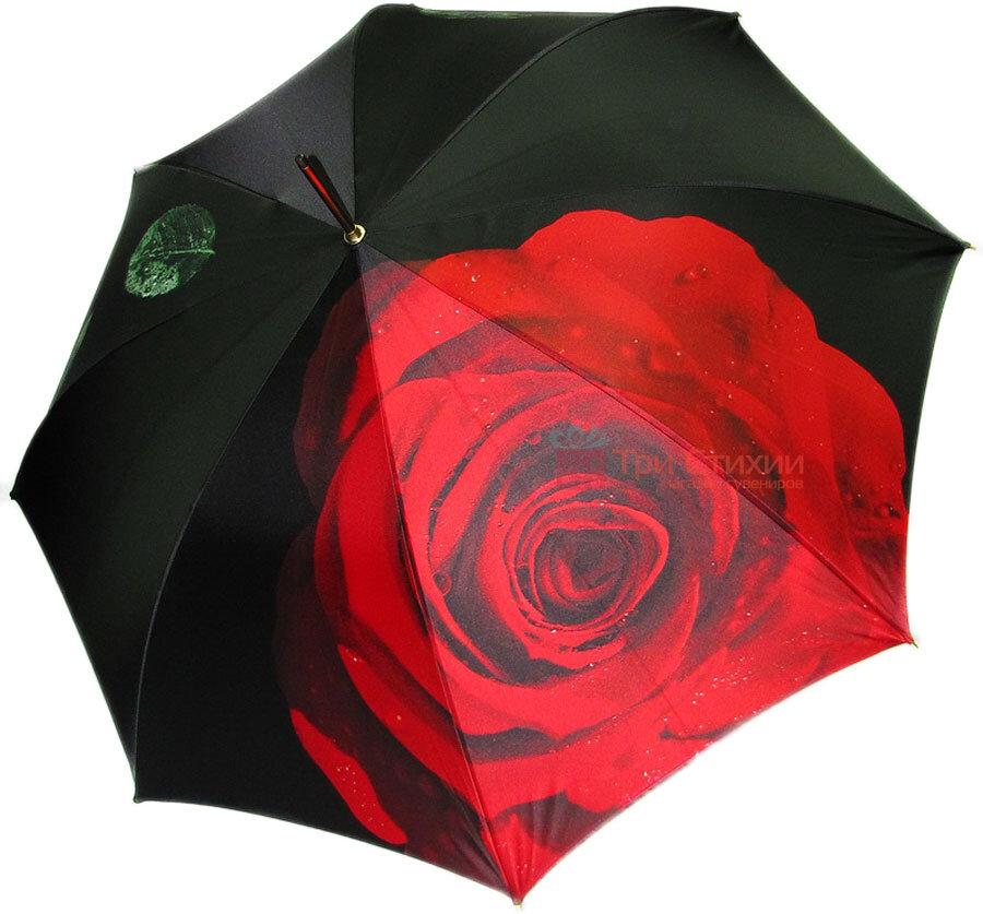 Парасолька-тростина Doppler 12021-2 напівавтомат Троянда, фото 2