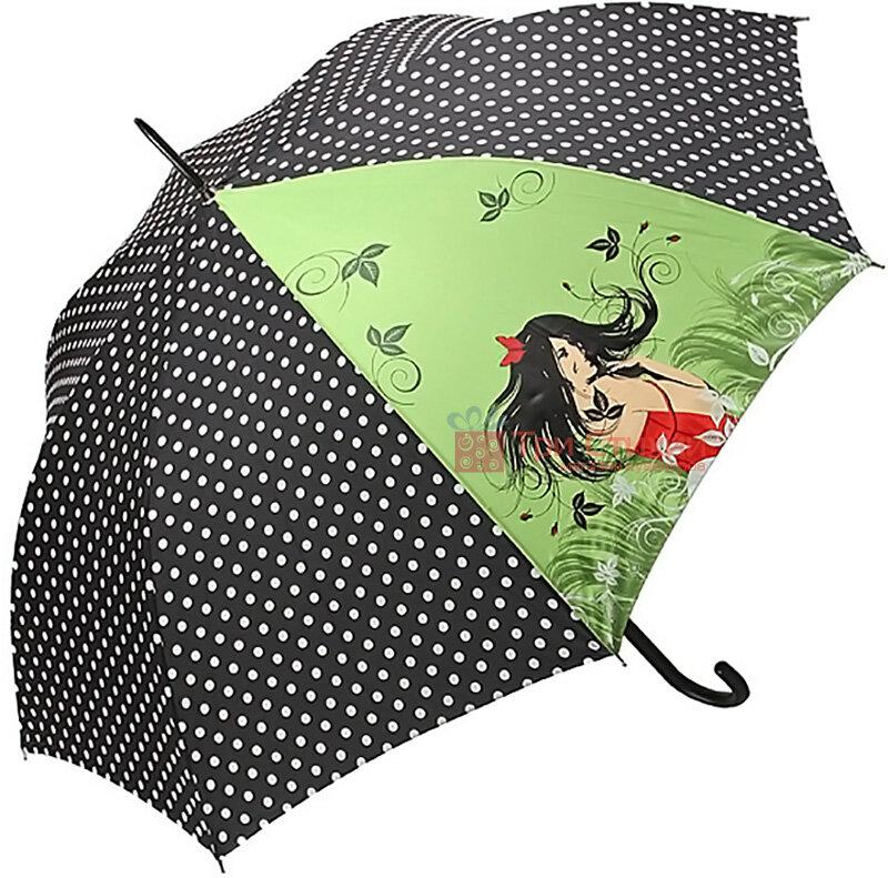 Зонт-трость Doppler Romance 740865R полуавтомат Зеленый, фото