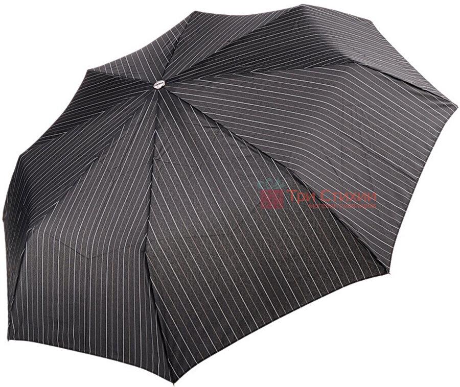 Зонт складной Doppler Carbon XM 74367-3 автомат Серая узкая полоска, фото