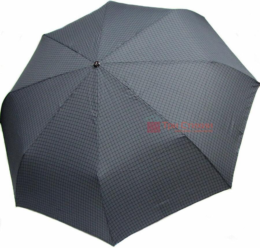 Зонт складной Doppler Carbon XM 74367-4 автомат Серый мелкая клетка, фото