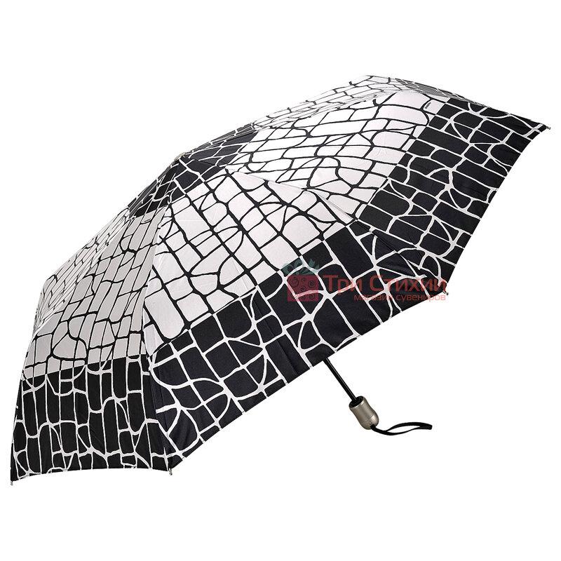 Зонт складной Doppler Satin 74665GFGGZ-6 полный автомат Черно-белый, фото