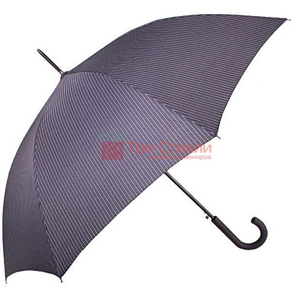 Зонт-трость Derby 77267P-4 полуавтомат Серый в полоску, фото