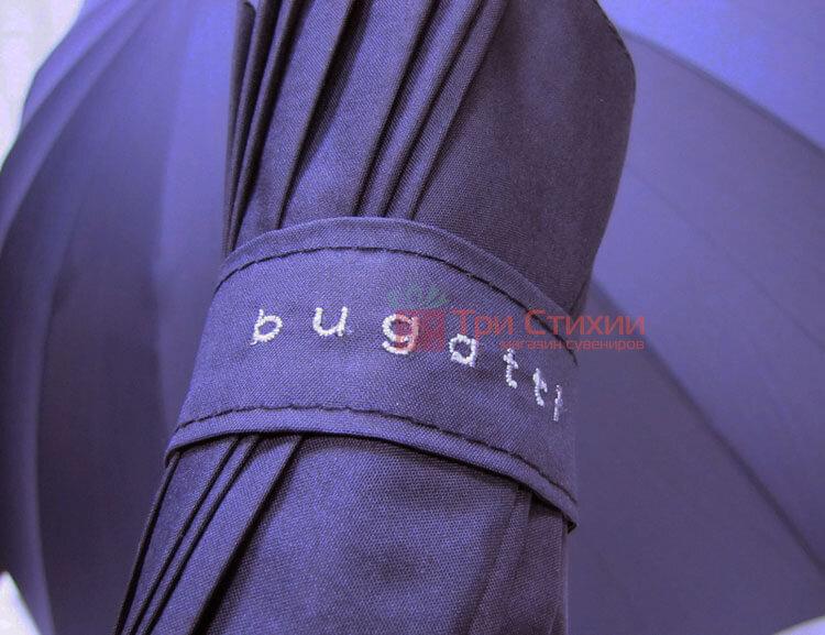Зонт-трость Bugatti 71763003BU механический Тёмно-синий, фото 4