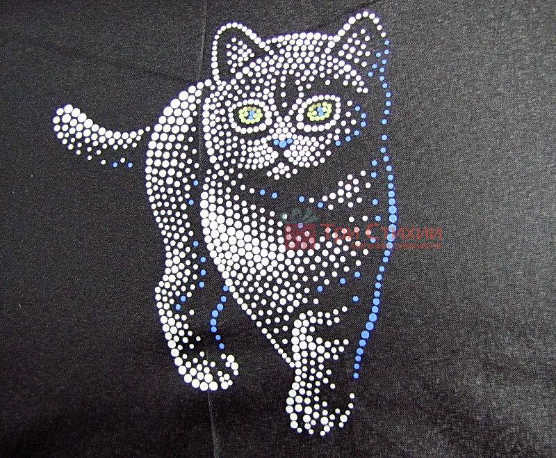 Парасолька складана з котами Doppler 7441465C01 автомат Чорна, фото 3