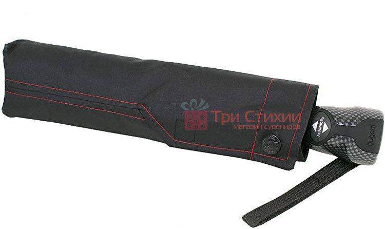 Зонт складной Bugatti 74666BU автомат Чёрный, фото 2