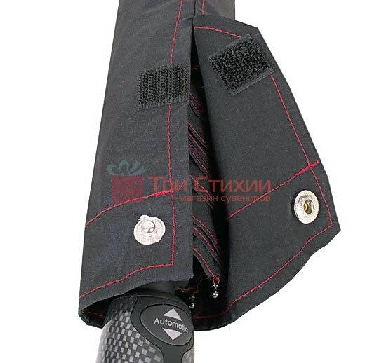 Зонт складной Bugatti 74666BU автомат Чёрный, фото 3