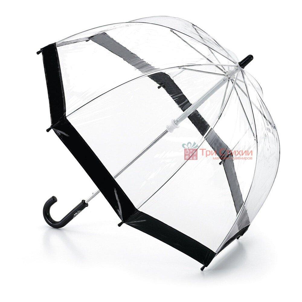Детский зонт-трость Fulton Funbrella-2 C603 Прозрачный с черным, фото