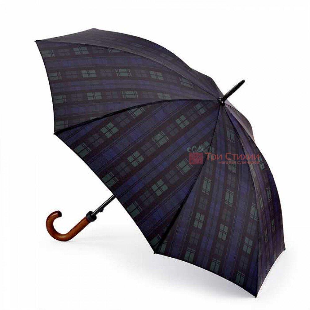 Зонт-трость Fulton Huntsman-2 G817 Синий клетка, фото