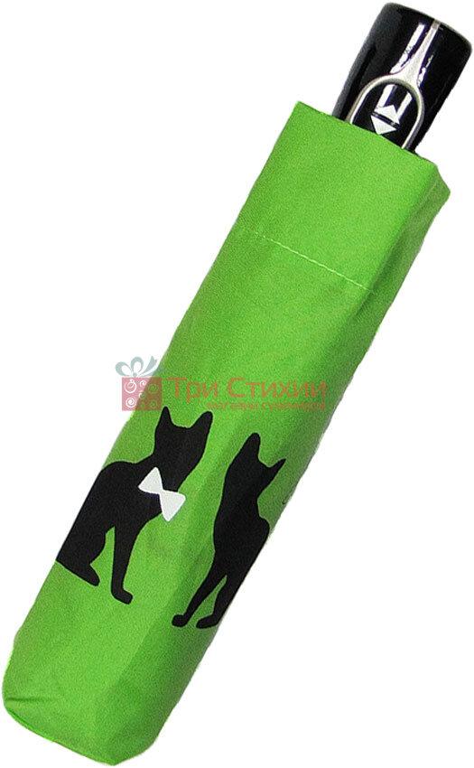 Парасолька складана з котами Doppler 7441465C06-3 автомат Салатова, Колір: Салатовий, фото 2