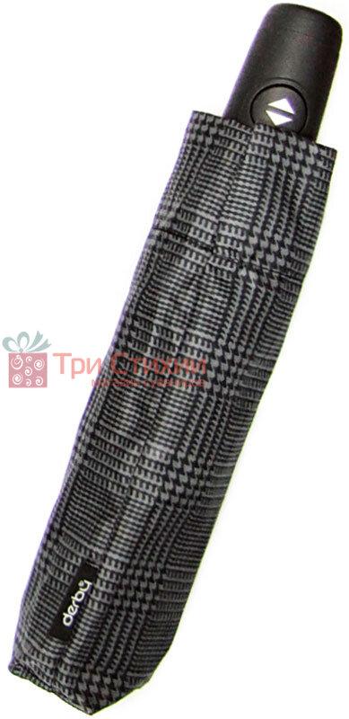 Зонт складной Derby 744167P-1 автомат Черно-серый, фото 2