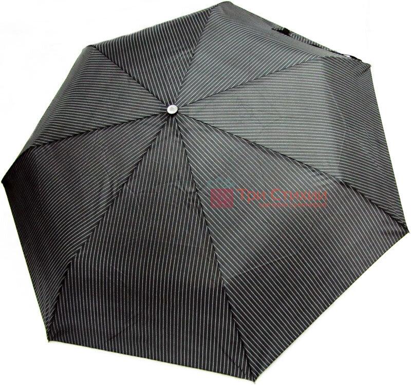 Зонт складной Derby 744167P-4 автомат Черно-серый Полоска, фото