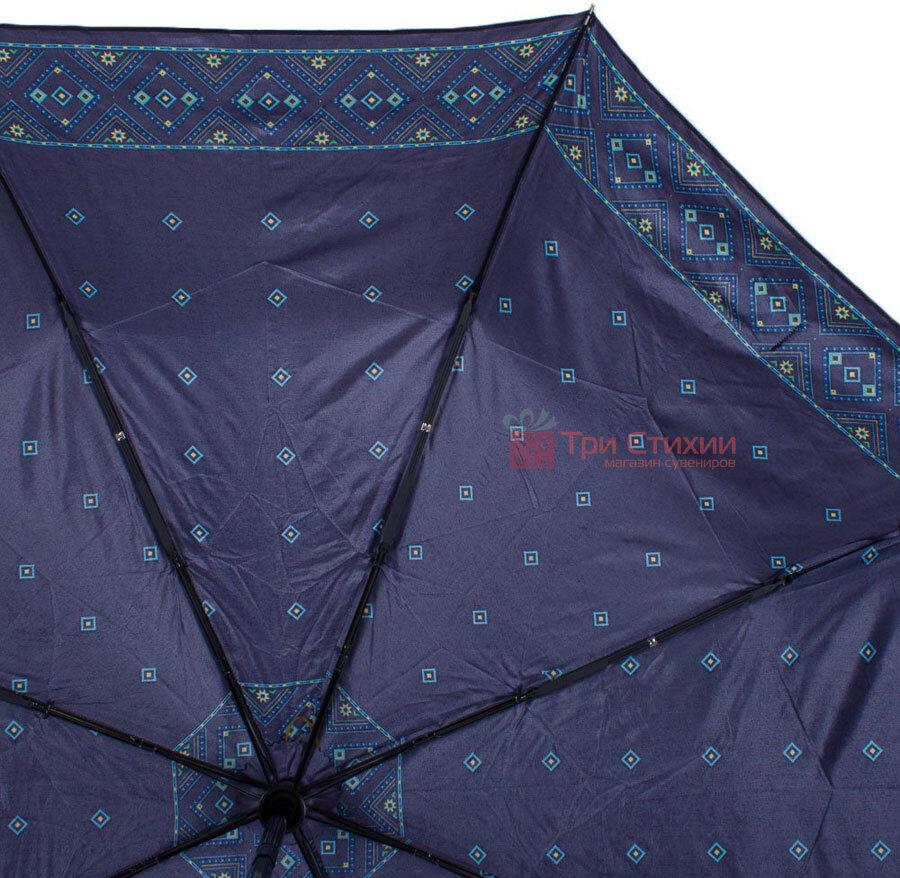 Зонт складной Doppler Satin 74665GFGMAU-2 автомат Синий кант, фото 3
