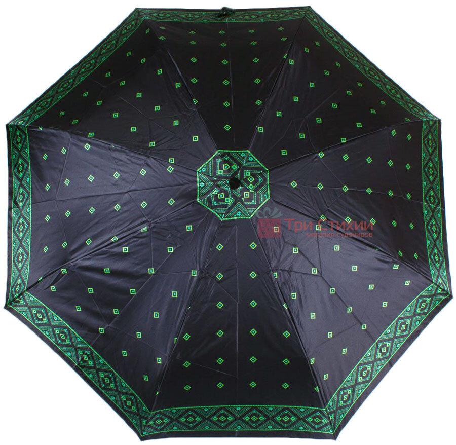 Зонт складной Doppler Satin 74665GFGMAU-3 автомат Зеленый кант, Цвет: Зеленый, фото 2