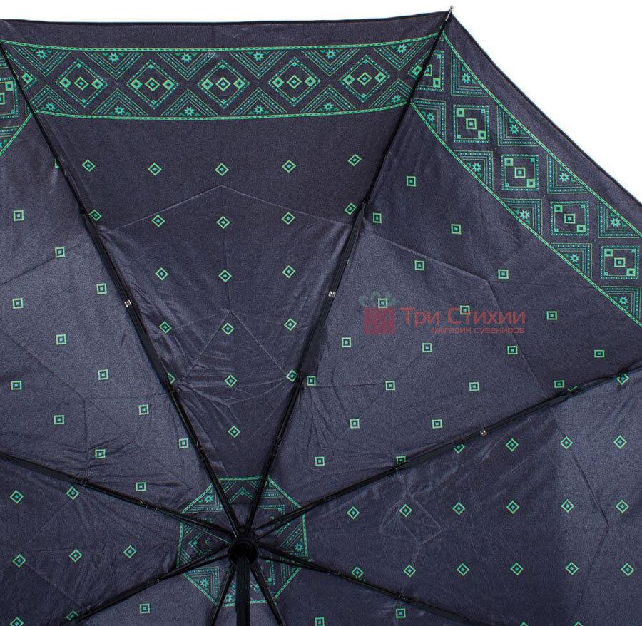 Зонт складной Doppler Satin 74665GFGMAU-3 автомат Зеленый кант, Цвет: Зеленый, фото 3
