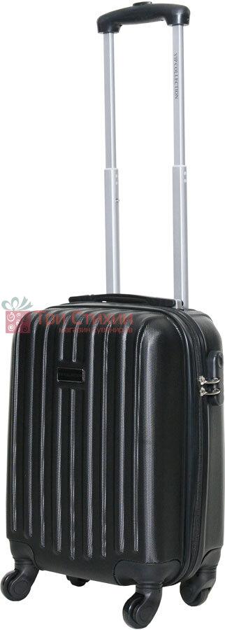 Чемодан ручная кладь Vip Collection Panama 16 Black, Цвет: Черный, фото