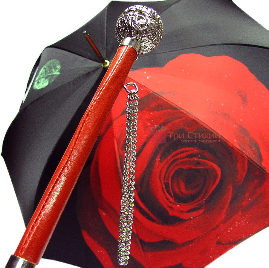 Парасолька-тростина Doppler 12021-2 напівавтомат Троянда, фото