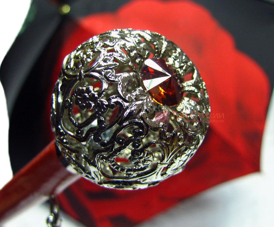 Парасолька-тростина Doppler 12021-2 напівавтомат Троянда, фото 3