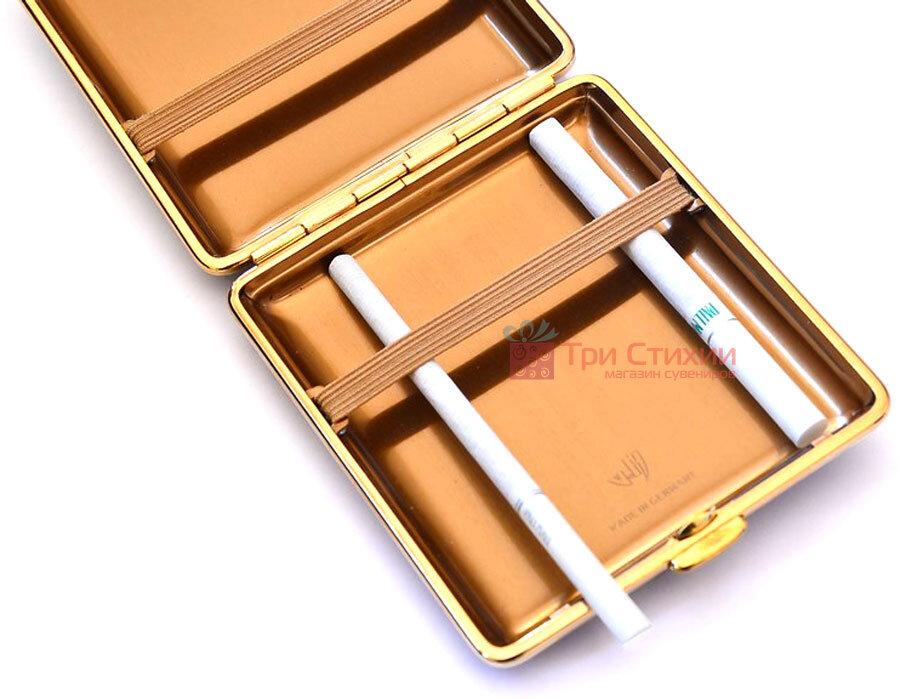 Портсигар VH 901129 для 18 KS сигарет кожа Коричневый, Цвет: Коричневый, фото 3