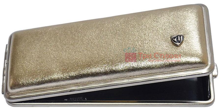 Портсигар VH 904264 для 8 KS/12 Super KS сигарет кожа Золотистый, Цвет: Золотистый, фото