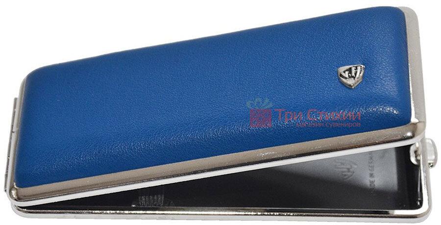 Портсигар VH 904354 для 8 KS/12 Super KS сигарет кожа Синий, фото