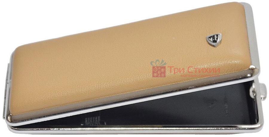 Портсигар VH 904355 для 8 KS/12 Super KS сигарет кожа Бежевый, фото
