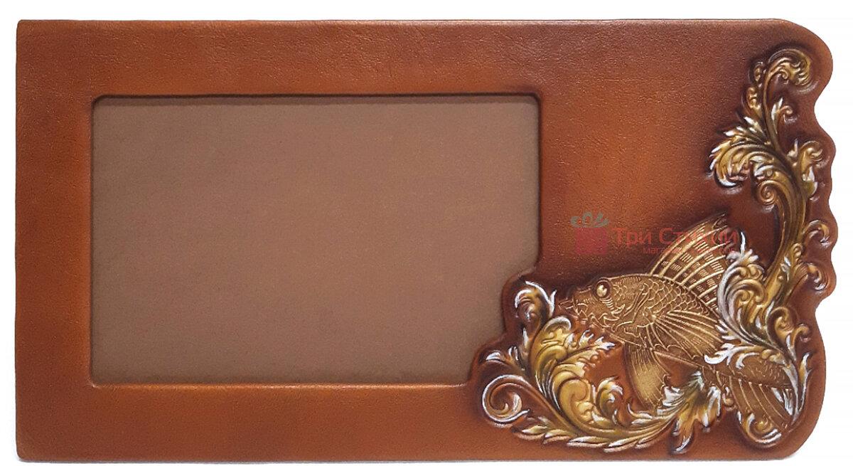 Рамка для фото Макей Золота рибка шкіряна (519-08-03), фото