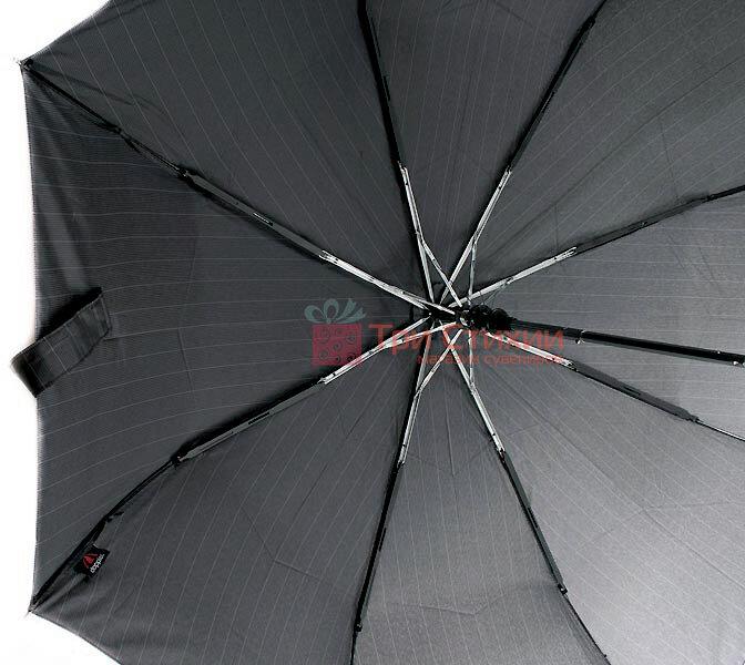 Зонт складной Doppler Carbon 730167-3 полуавтомат Серый в полоску, фото 3