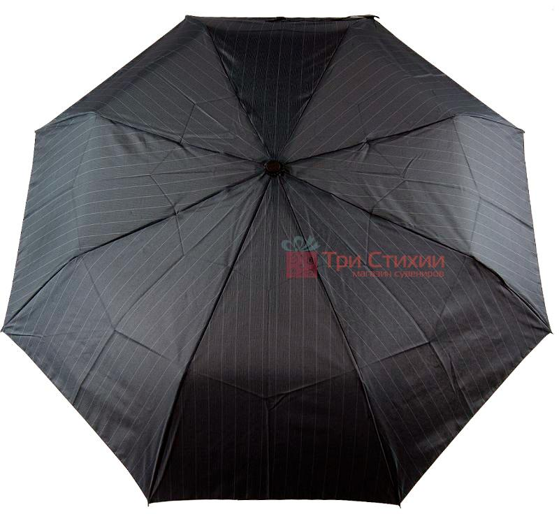 Зонт складной Doppler Carbon 730167-3 полуавтомат Серый в полоску, фото 4