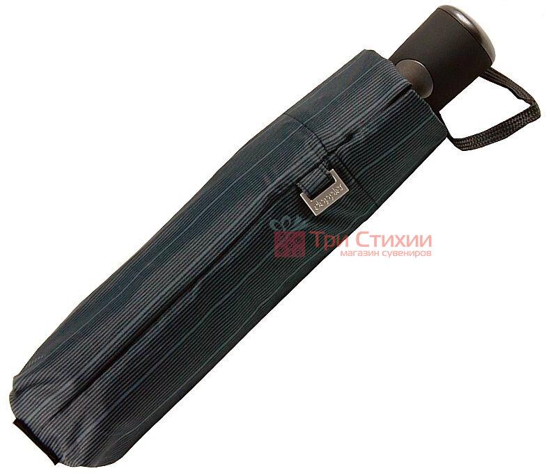 Зонт складной Doppler Carbon 730167-3 полуавтомат Серый в полоску, фото 5