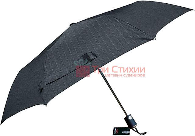 Зонт складной Doppler Carbon 730167-3 полуавтомат Серый в полоску, фото