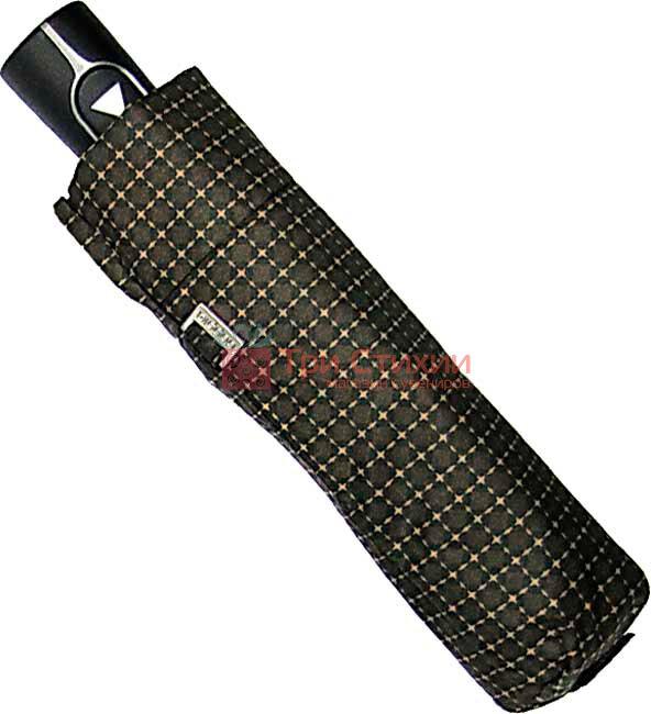 Парасоля складана Doppler Carbon 730167-6 напівавтомат Коричневі ромбі, фото 2