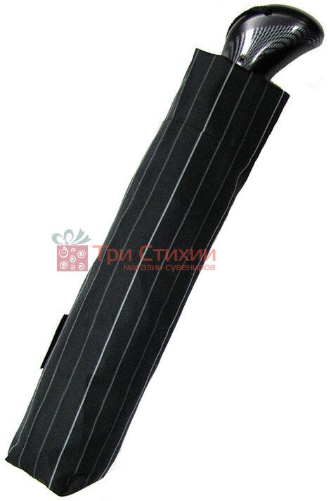 Зонт складной Doppler Carbon XM 74367-3 автомат Серая узкая полоска, фото 2