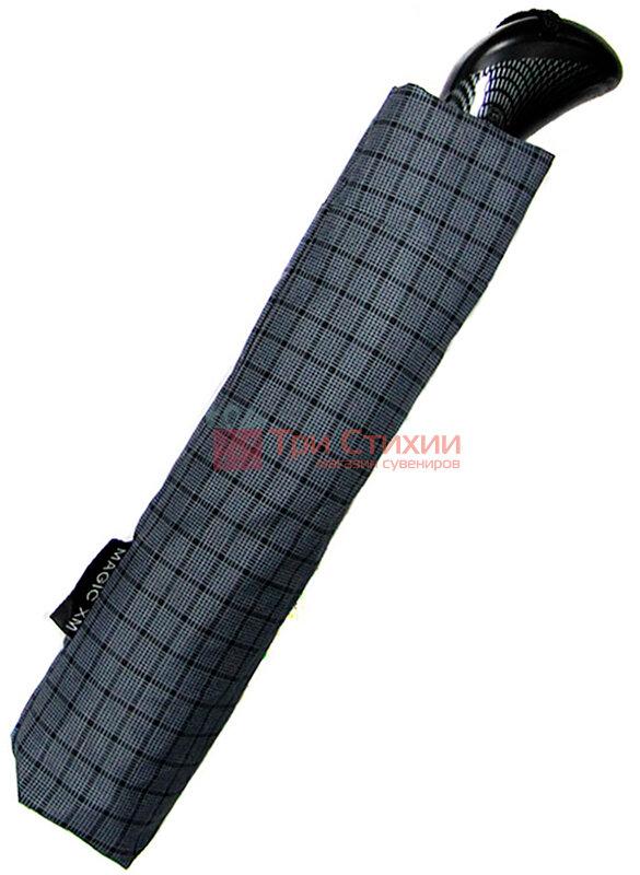 Зонт складной Doppler Carbon XM 74367-4 автомат Серый мелкая клетка, фото 2