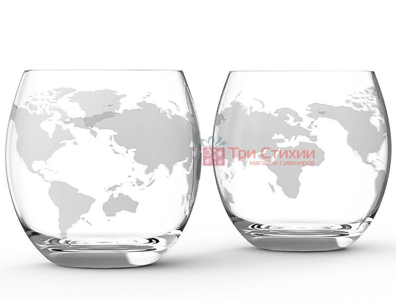 """Набір для віскі 2 склянки BST """"Навколо Світу"""" (640007), фото 2"""