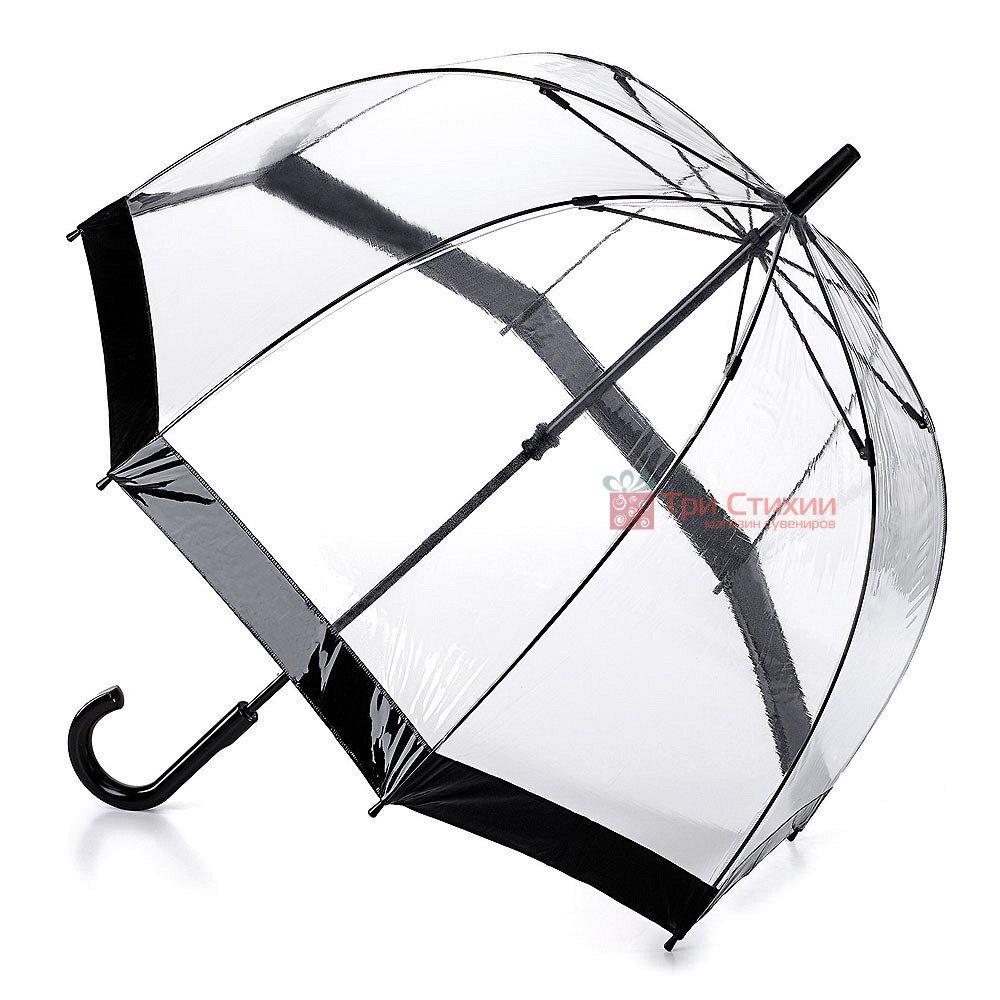 Зонт-трость женский Fulton Birdcage-1 L041 Black (Черный), фото