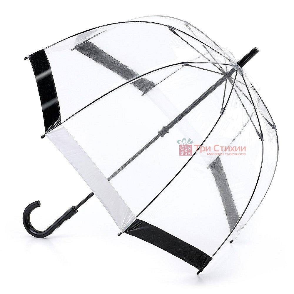 Зонт-трость женский Fulton Birdcage-1 L041 Black White (Черно-белый), фото