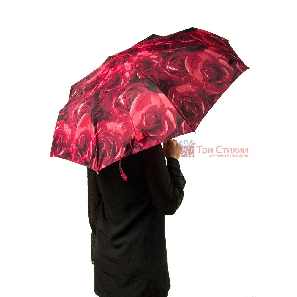 Парасолька жіноча Fulton Open & Close-4 L346 Photo Rose Red (Червоні троянди), фото 7