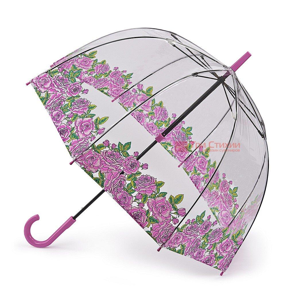 Парасолька-тростина жіноча Fulton Birdcage-2 L042 Coming Up Roses (Троянди), фото