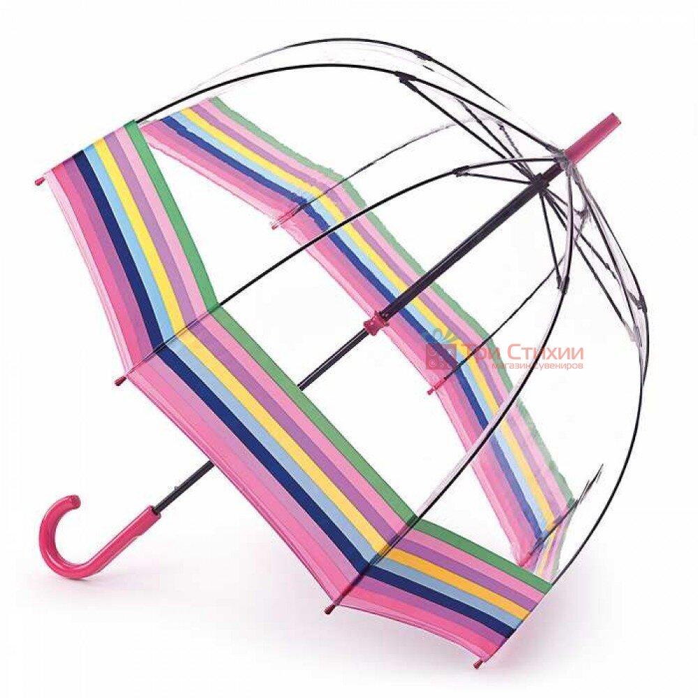 Зонт-трость женский Fulton Birdcage-2 L042 Colour Burst Stripe (Цветные полосы), фото