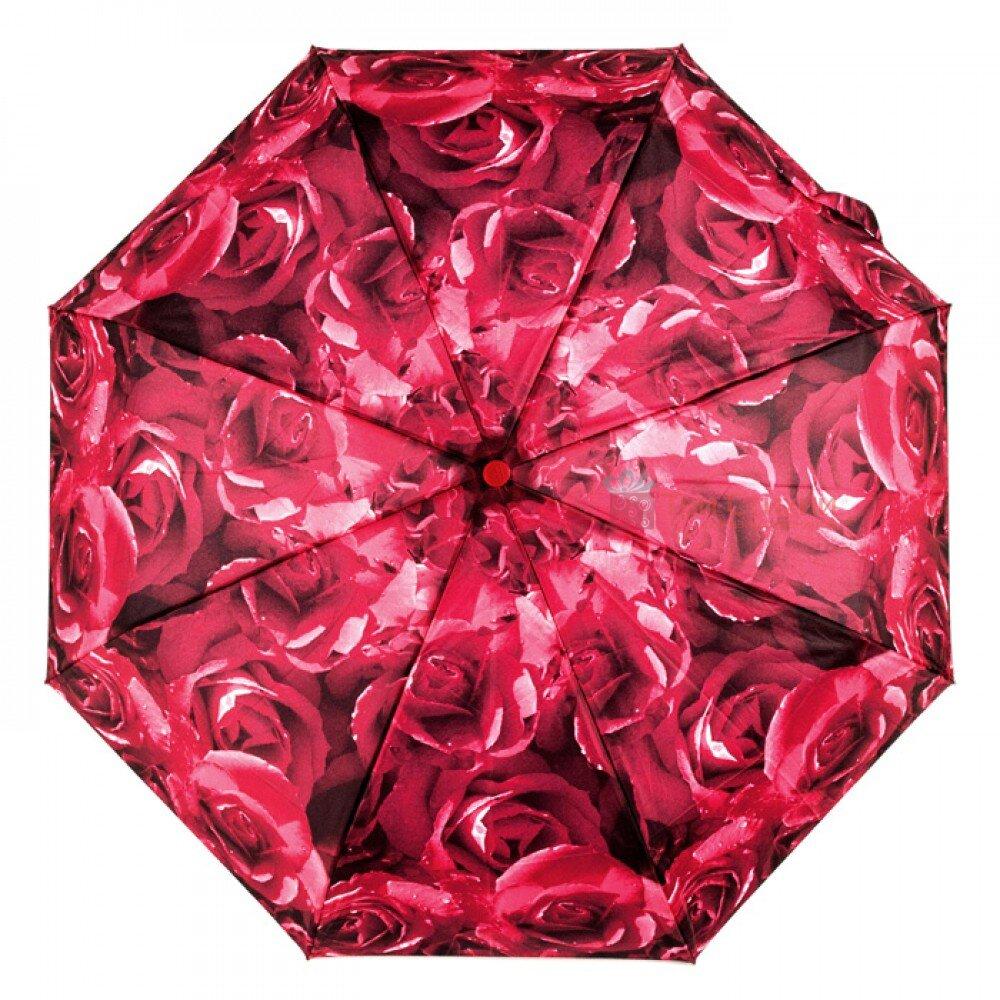 Парасолька жіноча Fulton Open & Close-4 L346 Photo Rose Red (Червоні троянди), фото 5