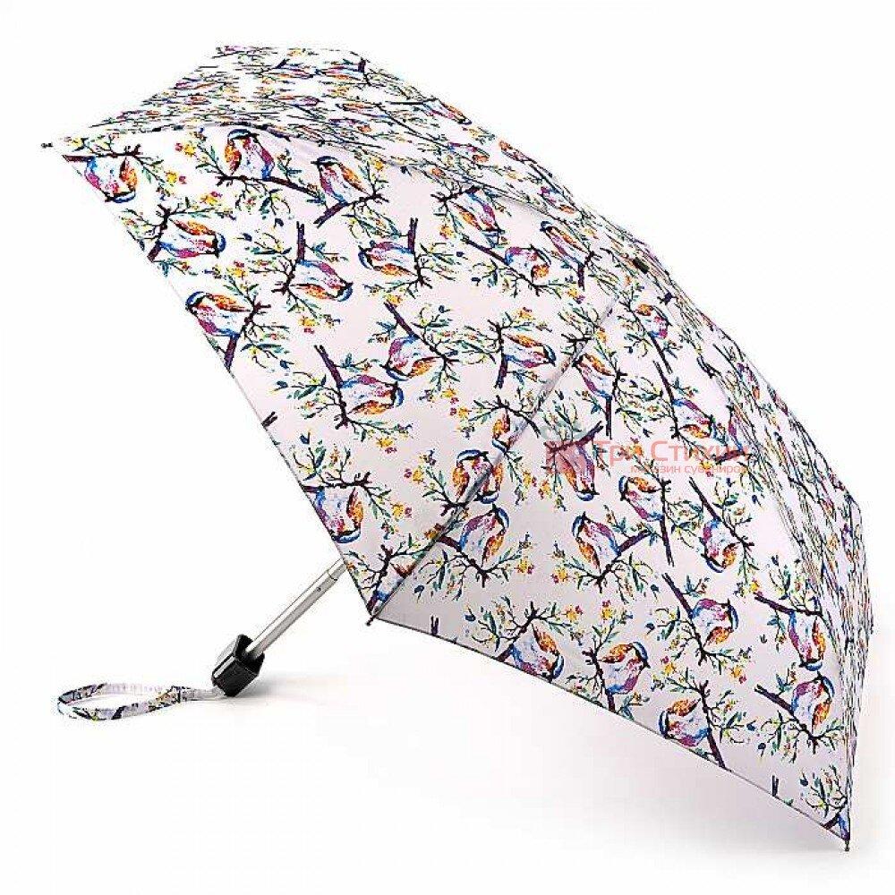Зонт женский Fulton Tiny-2 L501 Summer Shade Birdy (Летняя тень птички), фото