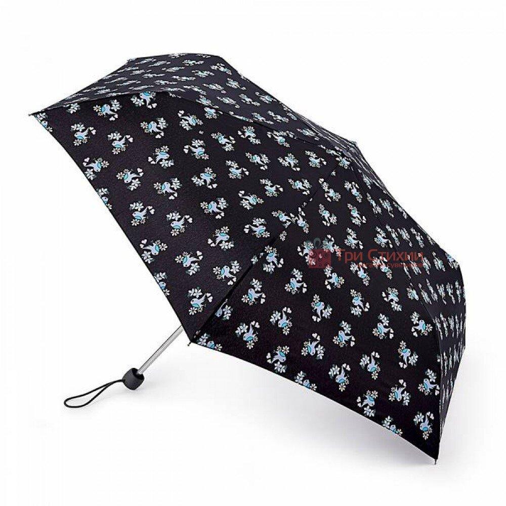 Зонт женский Fulton Superslim-2 L553 Sweetheart Birdy (Милая птичка), фото