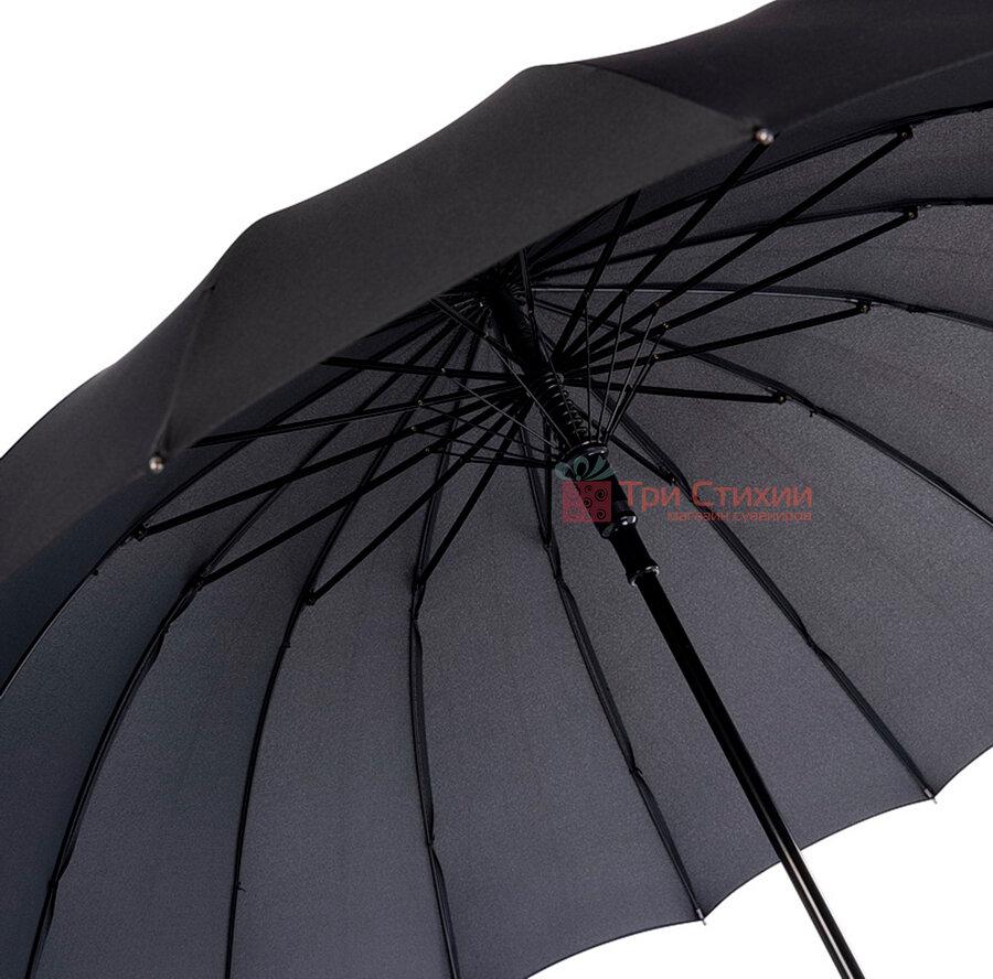 Парасоля-тростина Doppler 741963DSZ напівавтомат Чорна, Колір: Чорний, фото 3