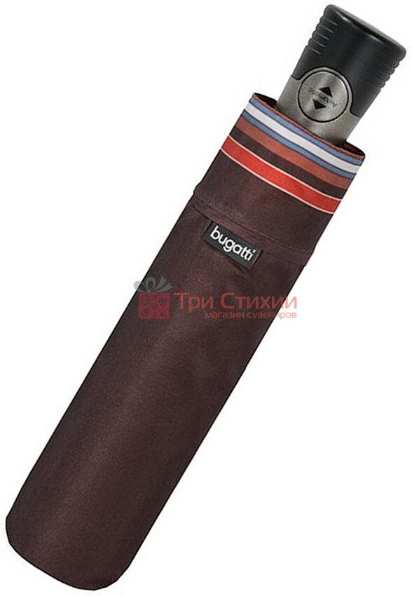 Зонт складной Bugatti 744167001BU полный автомат Коричневый, фото 2