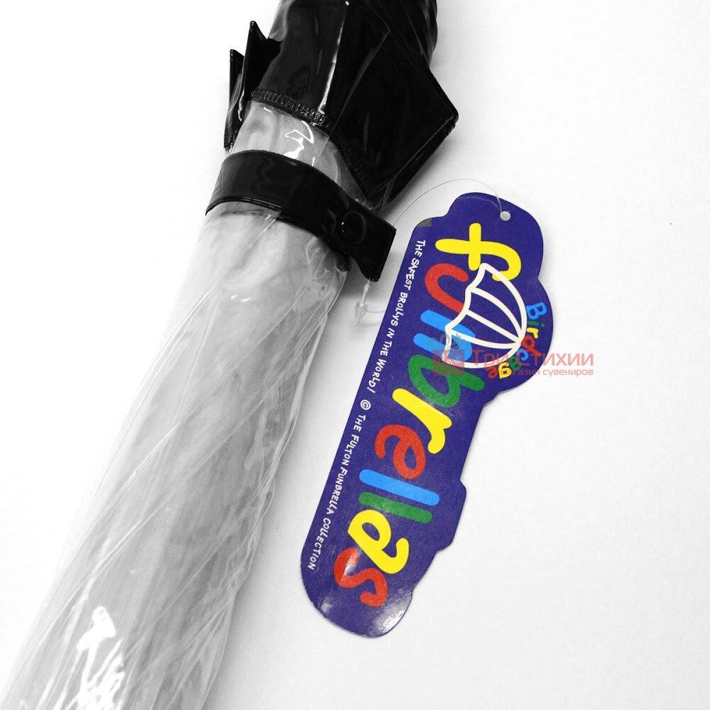 Детский зонт-трость Fulton Funbrella-2 C603 Прозрачный с черным, фото 2