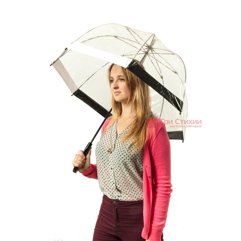 Зонт-трость женский Fulton Birdcage-1 L041 Black White (Черно-белый), фото 3